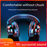 Over the Head Bluetooth 9D HIFI Stereo Wireless Headphones Gaming Headset W/Mic