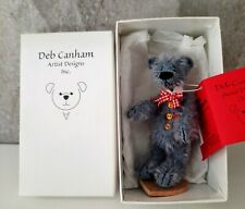 "DEB CANHAM Artist Designs RIGHTY-O, Woebe Bears Coll. 3.75"" mohair LE jointed"