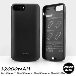 12000mAh External Battery Charger Charging Case Cover For iPhone 6S 6 7 8 Plus