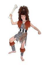 Girls Cavegirl Costume Wig Childs Tarzan Flinstones Fancy Dress Cave Stone Age