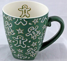 Starbucks Barista Mug 2001 Holiday Christmas Green Gingerbread Man Cup HTF