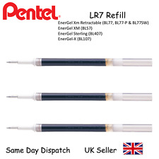 Pentel LR7 0.7mm Black Refill For Energel BL77 BL57 BL407 BL107 - Pack of 3