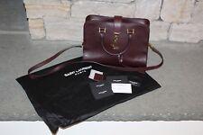 Saint Laurent YSL Paris 2WAY Handbag Monogram 357395 Burgundy Authentic