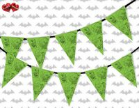 Halloween Zombie Group Green Bunting Banner 15 flags by PARTY DECOR