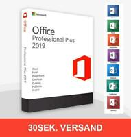 Microsoft Office 2019 Professional Plus Vollversion Lizenz Key, Lebenszeit