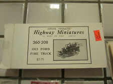 Jordan Products Highway Miniatures 1913 Ford Fire Truck Kit H O Scale /