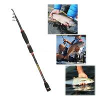 Professional Telescopic Fishing Rods Carbon Fiber Spinning Rods 1.8-3.0m V6P3