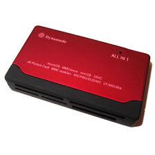 DYNAMODE EXTERNAL MULTI MEMORY CARD READER / USB POWERED / RED / 6 SLOT / PC