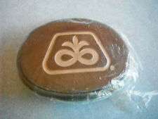 Vintage Leather Covered PIONEER SEED Logo BELT BUCKLE New In Package Ag Adv