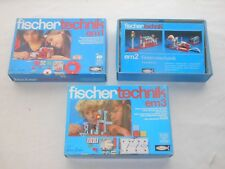 Fischertechnik Lot Séries - Elektromechanik - em1+em2+em3 - Emballage D'Origine