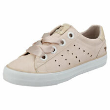 Mustang Skill Laced Sneaker Womens Apricot Casual Trainers - 4 UK