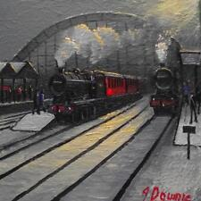 Original BEST Oil Painting Noted Artist James Downie : LMS at Central Station