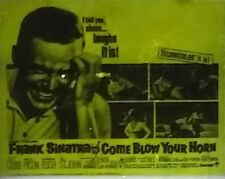 """Come Blow Your Horn"", Frank Sinatra, Movie Preview Magic Lantern Glass Slide"