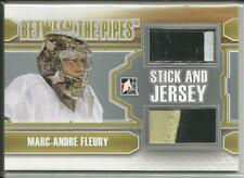 12-13 ITG Between The Pipes Stick & Jersey Marc Andre Fleury 1/19 #SJ17 Penguins