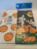 Halloween Paper Tablecloth Table cover Pumpkin Ghosts Bats Jack O Lantern Lot 2