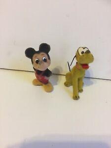 Mickey & Pluto Vintage Figurines