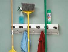The Clincher 333-6 Wht2 Mop/Broom Holder,6 Handle,34 In