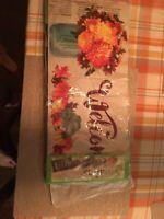 Sassafras Switch Mat - Fall Mums Floral Mason Jar