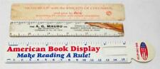 Vintage Lot of Advertising Drawing & Drafting Rulers tob