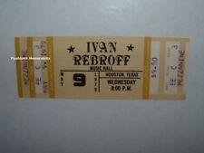 IVAN REBROFF Unused 1979 Concert Ticket HOUSTON Music Hall OLD RUSSIA Folk Songs