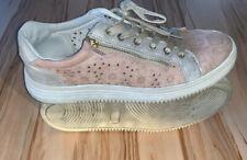 JOSH Plateau Sneaker Schuhe Silber/Flieder Glitzer Größe 40