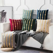 Beige Bronzing Cushions Covers Throw Pillows Cases Velvet Appliques Embroideries