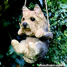 More details for cute hanging yorkshire terrier puppy ornament decoration yorkie dog lover gift