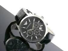 Emporio Armani AR-2447,Black Strap black dial Choronograph Men's Watch