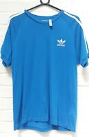 Men's Adidas Blue Short Sleeve T-Shirt Top Size Small Charity Sale