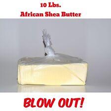 10 lb. African Shea Butter 100% Pure Raw Organic Unrefined Bulk Wholesale IVORY