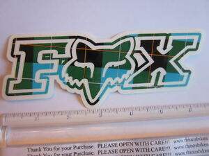 "ONE - 6"" FOX RACING Murphys GREEN MX Head Mountain ride Bike Frame Sticker Decal"