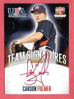 2014 Carson Fulmer Panini USA Baseball Rookie Auto Red Ink 04/25 - White Sox