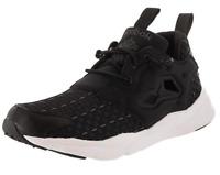 Reebok Womens Shoes Furylite New Woven V70798 Classic Sneakers Running Black