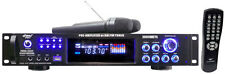 New PWMA3003T 3000Watts Hybrid Pre-Amplifier W/AM-FM Tuner/USB/Dual Wireless Mic