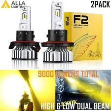 Alla Lighting H13 9008 LED Headlight High Low Beam Light Bulb Lamp Golden Yellow