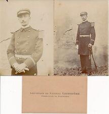 Militaire c. 1900 - 2 Photos Lieutenant de Vaisseau Lecompère Torpilleur - 2