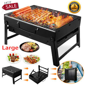 Portable BBQ Barbecue Steel Charcoal Grill Outdoor Patio Garden Picnic Stove uk