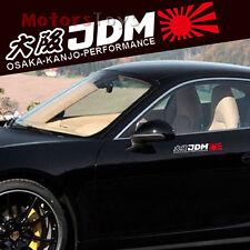1x JDM Red Rising Sun White Osaka Kanjo Performance Reflective Car Sticker Decal