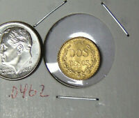 1945 Gold Mexican 2 Peso Uncirculated Mexico Gold Dos Pesos 0.0482 AGW