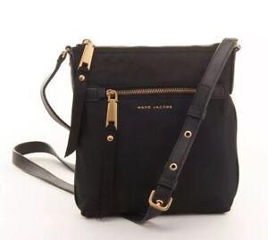 NWT Marc Jacobs Trooper Nylon Crossbody Bag Black, $198