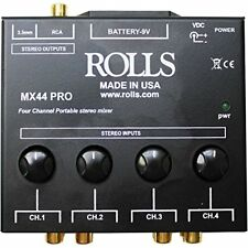 """Rolls MX44PRO 4channel Stereo Rca & 1/8"""" Mixer"""