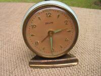 Vintage Baby Blue Blessing West Germany Desk Alarm Clock