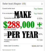 PROVEN WEBSITE E-Commerce Business $288,000+ A YEAR 3 YEARS STRAIGHT NO RESERVE