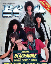 Rainbow Joe Lynn Turner Rare Pelo Magazine Argentina 1982