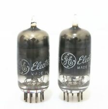 Match 1 pair GE black glass 6DJ8 tube for tubes amplifier ECC88 E88CC