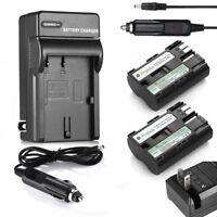 2x BP-511A BP511 Battery + Charger for Canon EOS 5D 50D 40D 30D 300D 20D Pro1 G2