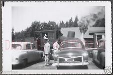 Vintage Car Photo 1951 Ford & Plymouth Automobiles w/ Railroad Train 670984