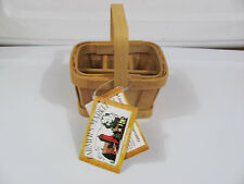 NEW NWT Taskets Renaissance Hand Woven Mini Basket Divided Organizer W/ Liners