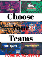 CHOOSE Your QUALITY LARGE NRL Team Pencil Case for School Work stationary