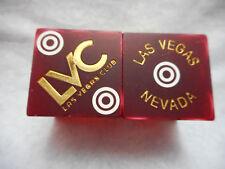 Pair of Closed Las Vegas Club Dlv Casino Dice - Matte Dark Red, Matching #s